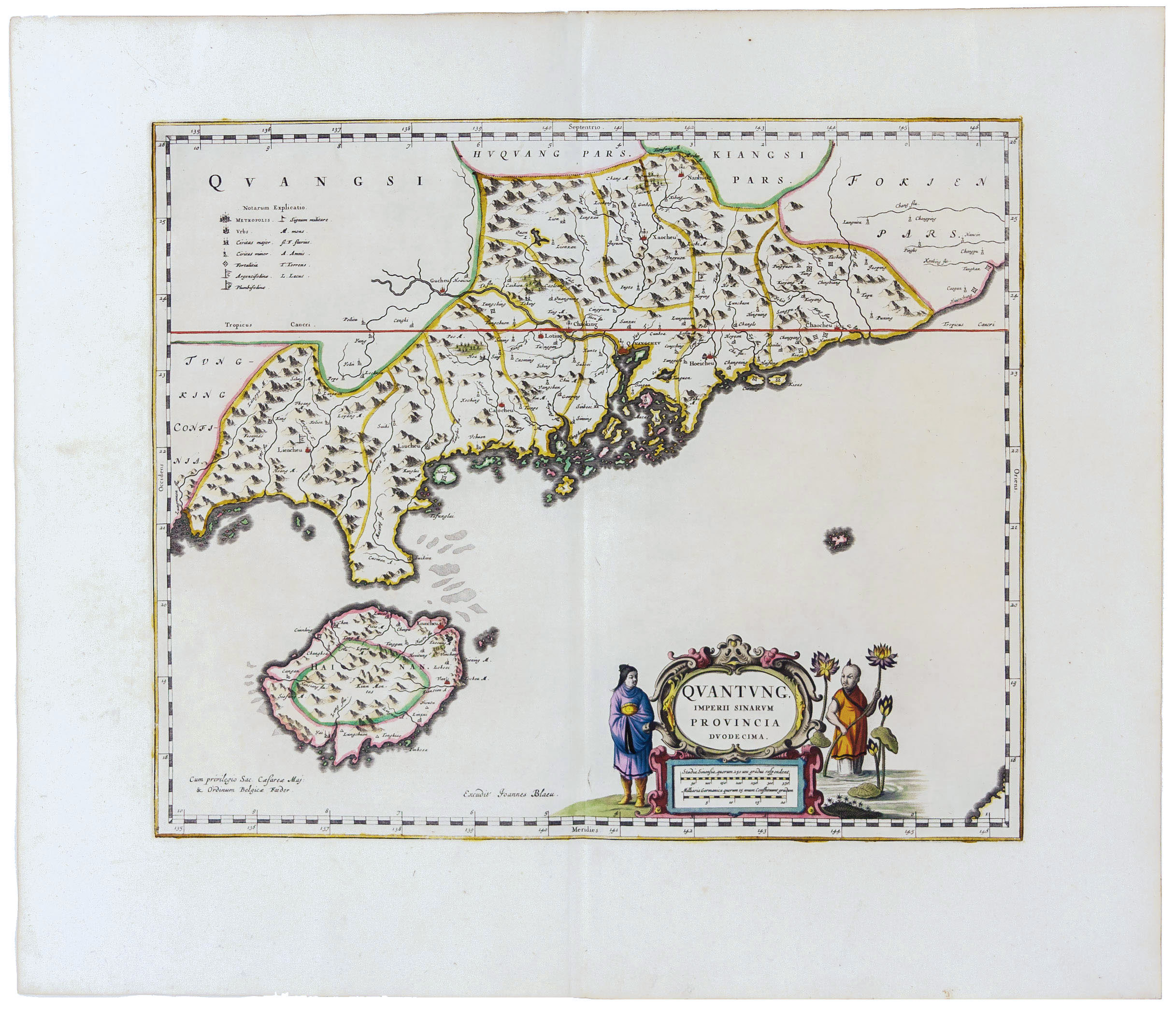 Mint Example of the Earliest Hong Kong Area Map