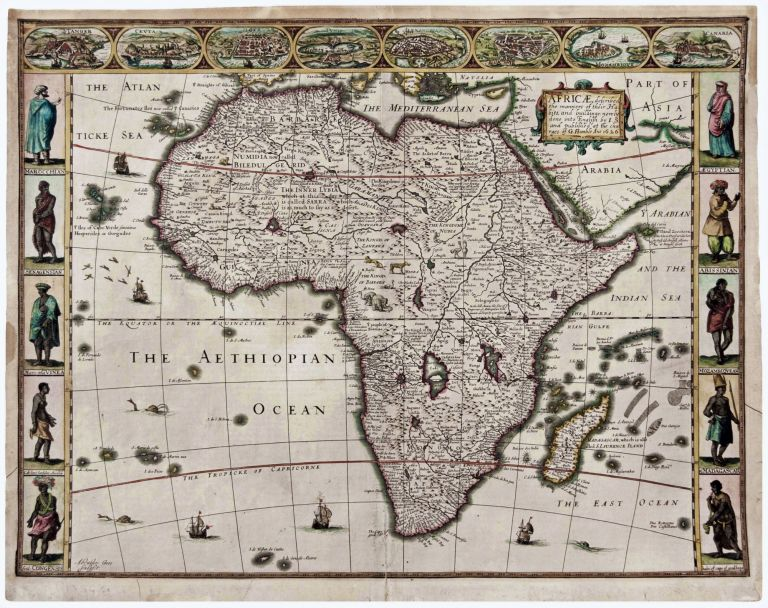 Africae, described, the manners of their Habits,… G. Humble Ano 1626. John SPEED.
