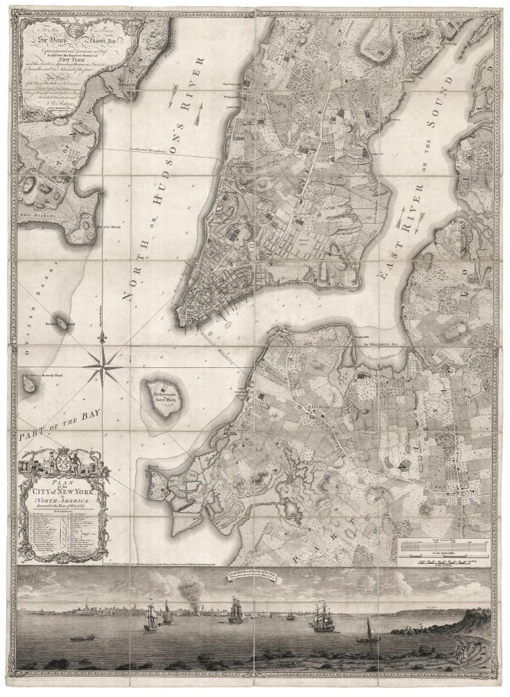 Plan of the City of New York, in North America: Surveyed in the Years 1766 & 1767. B. RATZER.