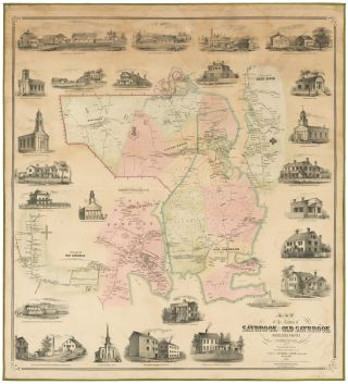 Map of the Towns of Saybrook and Old Saybrook Middlesex County Connecticut. C. E. / CLARK...