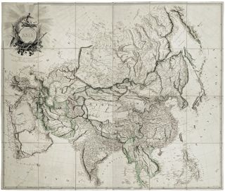 Asia To Major James Rennell, Esqr. F. R. S. &c. &c. This Map Is Inscribed, by His much Obliged...