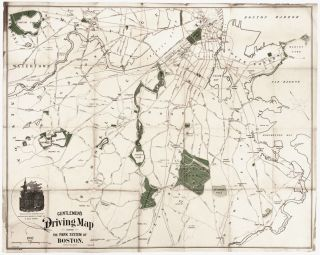 Gentlemen's Driving Map Showing The Park System Of Boston…First Edition. Frank C. MILES