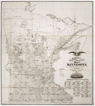 Burritt's Sectional and Township Map of Minnesota Compiled from the latest authentic sources by...