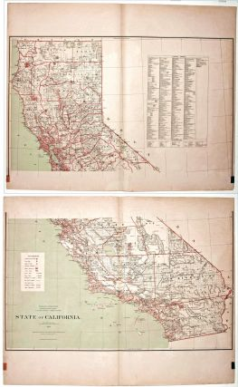 State of California. Published by the Department of the Interior, General Land Office. J. A....