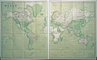 A New Chart of the World On Mercator's Projection With The Track Of The Most Celebrated & Recent...
