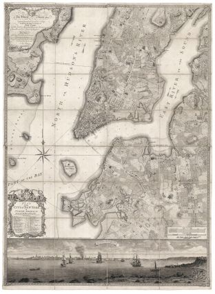 Plan of the City of New York, in North America: Surveyed in the Years 1766 & 1767. B. RATZER