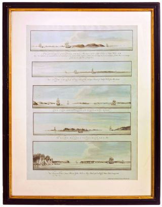 Five New York Harbor Views. J. F. W. Des Barres