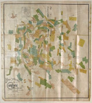 Elmer J. Chute's Map of the Goldfield Mining District Nye and Esmeralda Counties, Nevada. 1905....